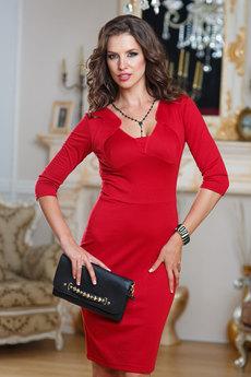 Платье темно красного цвета Angela Ricci