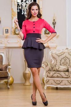 Черное платье с красным верхом Angela Ricci со скидкой