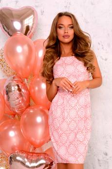 Розовое платье без рукавов Open-Style