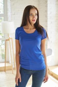 Синяя женская футболка Шарлиз