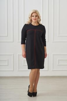 Черное платье с красной полосой Шарлиз