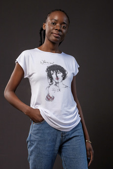 Белая футболка с девушкой ZAVI