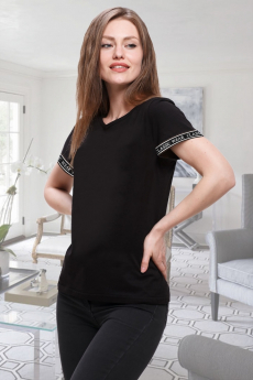 Черная женская футболка Brosko