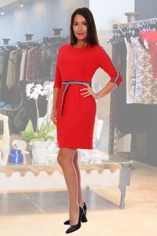 Красное повседневное платье Натали